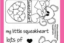 Squeakheart Stamps and Dies / Clear stamps and dies from pinkandmain.com