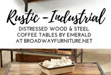 wood and steel furniture