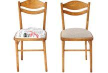 Krzesło PRL, model 7556 / Krzesło PRL model 7556. Wyprodukowane w Starachowickich Zakładach Przemysłu Drzewnego w Radomsku, lata 60-70. Po całkowitej rewitalizacji.