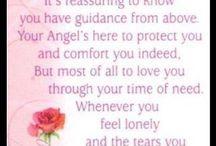Angel love when sad