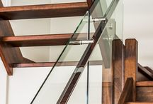 Glass Staircase Balustrades / Stunning staircases featuring glass and stainless steel