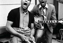 History Icons / Soul man Sam Cooke, with stirrers Cassius Clay, New York City, March 1964.