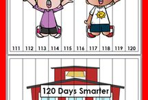 Back to School / Word wall headers, posters, syllables, nouns, verbs, adjectives, compound words, counting, skip counting, ten more & ten less, ten frames, addition,