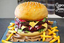 American Burger Cake