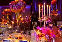 Bollywood Orange and Fuschia Wedding