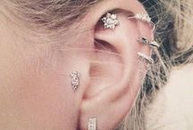 Pretty earrings and piercings