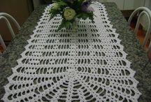 caminho mesa Crochê