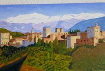 La Alhambra / Pintura al Oleo