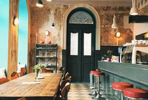 modern rustic retro cafes