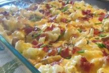 loaded cauliflower with cheese