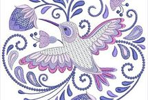 Hatched Embroidery Designs