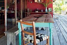 Mesa madera-jardin