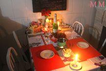 mesa posta, jantar de namorados
