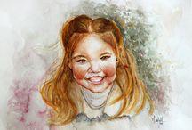 Pintura de retratos; portafolio / Mis retratos en óleo y acuarela