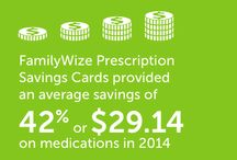 FamilyWize Prescription Savings Card / Learn more about the FamilyWize Prescription Savings Card. It can save you - and anyone - up to 43% off the cost of your medications. It's free and available to those with and without insurance. / by FamilyWize