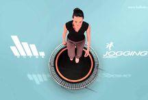 Workout video's / Een verzameling van leuke en uitdagende workouts op de bellicon trampoline!