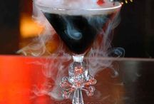 Halloween Themed Drinks / If you're going to be home awaiting the trick-or-treaters this year, you may as well wait with a festive drink in hand. Try these Halloween themed cocktails this year.