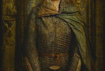templar woman soldier with plaks and coat of arms XIIth century SCOTT