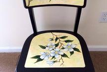 chaise fleur