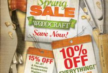 Sales at Woodcraft / Seasonal & Special Sale Pricing throughout the year. / by Woodcraft