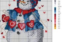 Snowmen Cross Stitch / by Luci Patterson