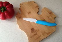Michigan Love / We love our fellow Michiganders and all things Michigan. Michigan favor tags, cutting boards and puzzles.
