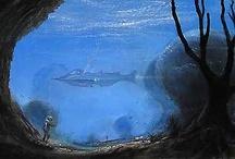 Peter and Harrison Ellenshaw Disney Art