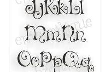Monogram Fonts and Instructions / by Robin Porter