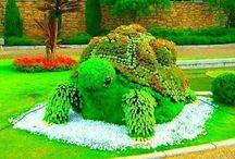 Ogrody i rzeźby z roślin