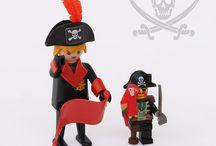 """Pirates: Playmobil Vs LEGO / Playmobil and LEGO """"pirate ship"""". Last year Playmobil turns forty and these shots are a tribute to Hans Beck (1929-2009), who designed them in 1974. Happy birthday Playmobil!"""