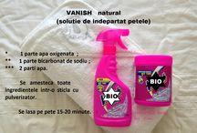 Produse ptr igiena casei / Produse de curatat pete, de spalat geamuri, de sters mobila etc. facute chiar de tine acasa.