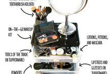 Makeup organization ideas / Keep your makeup near and tidy with these ideas.