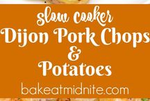 Pork chops and potatoes slow cooker