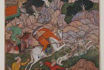 Enluminures, miniatures persanes, lettrines, calligraphie....