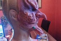 Latex Mask / sfx make up / self made maske / self made latex mask  sfx make up  voodoo witch