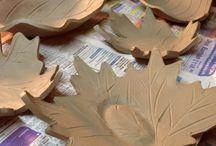 Cerámica hojas