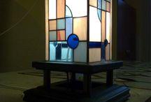 Art Deco ólomüveg lámpa / Art Deco ólomüveg lámpa  http://hu.sooscsilla.com/tiffany-technika-lampak/ http://hu.sooscsilla.com/portfolio/art-deco-allo-tiffany-lampa-olomuveg/