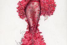 Kresby - šaty