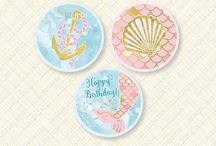 Mermaid Party / Mermaid themed Birthday party items.