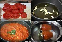 Salsa / Salsa de tomate casera con albahaca