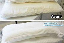 blanchir oreiller