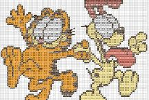 Cross stitch - Garfield