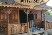 Villa Wooden Houses in Bali & Java. Rumah Geladak Jawa di Bali & Jawa, antik motif apik primitive by Truly Joglo Kudus / Rumah Geladak Jawa antik motif apik primitive by Truly Joglo Kudus