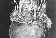 Illustration, Album Cover and T-Shirt Art / #Illustration #Bloodboy #MarkRiddick #Riddickart #RafalWechterowicz #SethSiroAnton #Godmachine #BrandonHeart