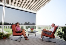 Exterior Solar Screens / From decks to windows, exterior solar screens can be mounted in any outdoor location to provide cool shade. Whether you choose manual, motorized, or automated sun-sensing operation, your screen can be instantly deployed whenever it's needed, and just as quickly returned to its discrete protective housing.