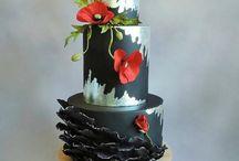 woman's birthday cake