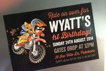 Wyatt's KTM Motorbike Motocross Party / Wyatt's 1st birthday motorbike party