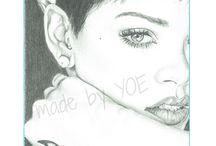 Portrait drawings Celebs. / Portrait drawings of celebrities. Portrettekeningen van beroemdheden.