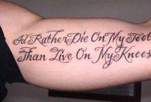 Tetování písmo