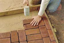 brick footpath